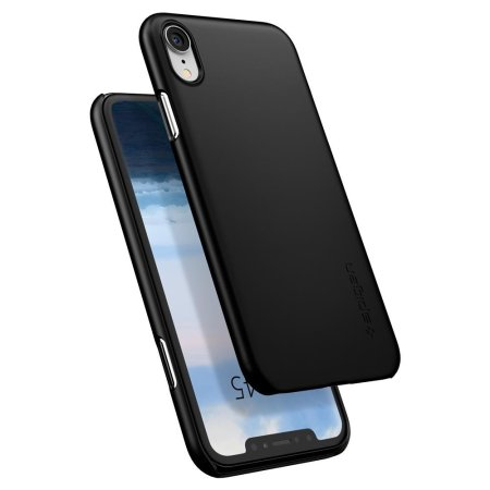 spigen thin fit iphone xr shell case - matte black
