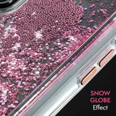 39af4cb1ace82f Case-Mate iPhone XR Waterfall Glow Glitter Case - Rose Gold