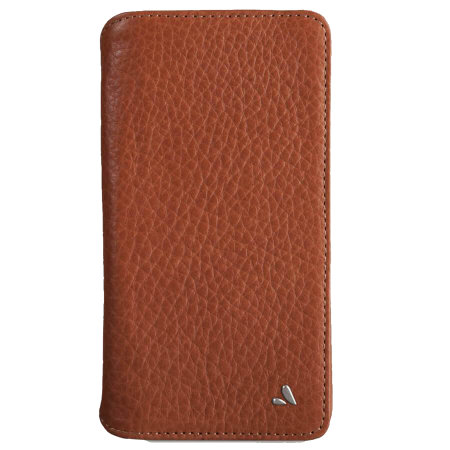 vaja wallet agenda iphone xs max premium leather case - tan