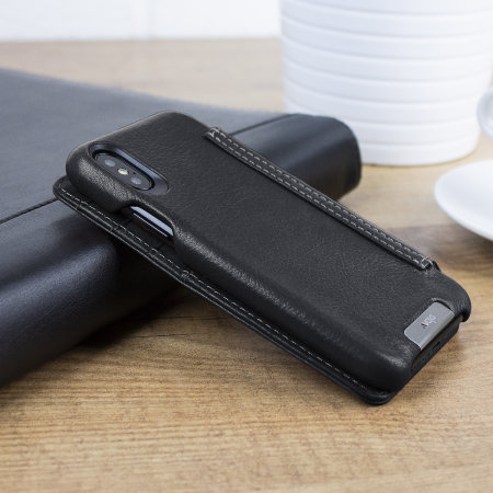 Funda iPhone XS Vaja Wallet Agenda - Negra