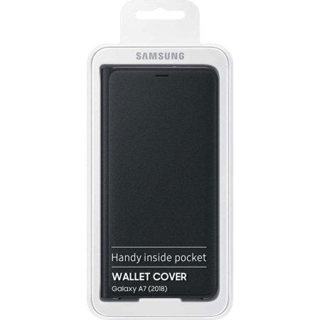 Official Samsung Galaxy A7 2018 Wallet Cover Case - Zwart