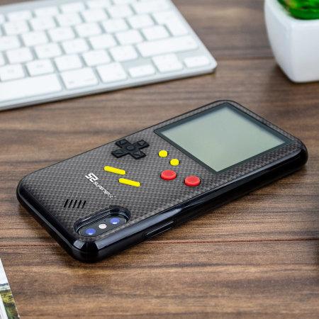 SuperSpot iPhone XS Retro Spielhülle - Kohlenschwarz