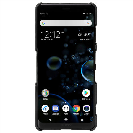 Krusell Sunne Sony Xperia XZ3 Premium Leather Slim Case - Black