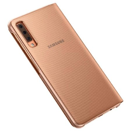 Official Samsung Galaxy A7 2018 Wallet Cover Case - Goud