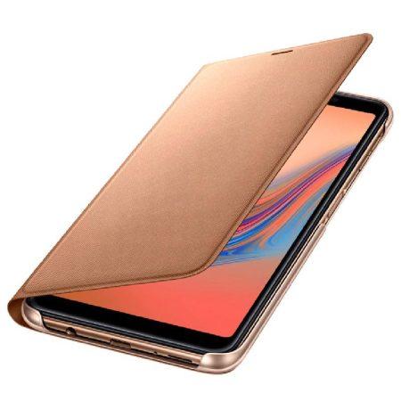 Official Samsung Galaxy A7 2018 Wallet Cover Case - Goud