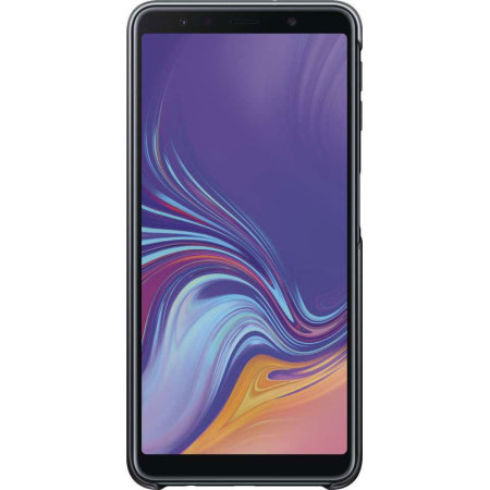 Officieel Samsung Galaxy A7 2018 Gradation Cover Case - Zwart