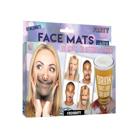 Quirky Party Face Mats - 20 Double Sided Face Mats