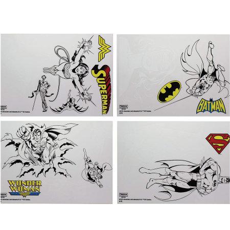 DC Comics Gadget Decals - 10 Vinyl Laptop Stickers inc Batman Superman