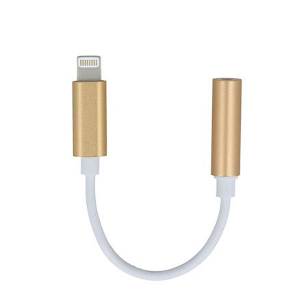 Forever iPhone XS Max Lightning To 3.5mm Aux Adapter - Gold