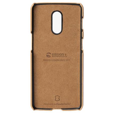 Krusell Sunne OnePlus 6T Leather Case - Vintage Nude
