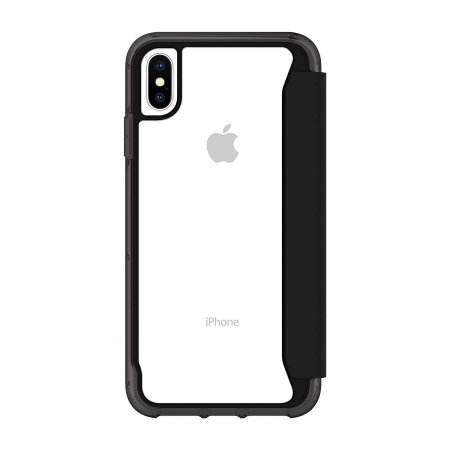 griffin survivor clear iphone xs max wallet case - black / clear