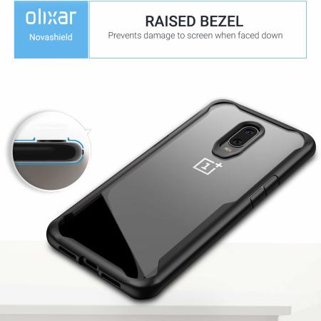 Olixar NovaShield OnePlus 6T Bumper Case - Black