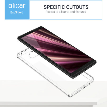 Olixar ExoShield Tough Snap-on Sony Xperia 10 Case - Crystal Clear