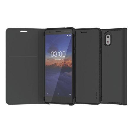 new product 8c958 4879d Official Nokia 3.1 Slim Flip Wallet Case - Black