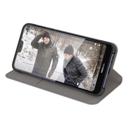 Official Nokia 7.1 Entertainment Flip Wallet Case - Grey