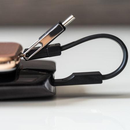 Llavero magnético 4Smarts 3in1 Mini Lightning, USB-C y Micro USB