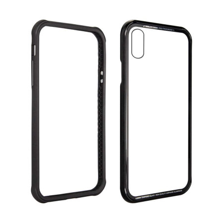 switcheasy iglass iphone xs bumper case - black