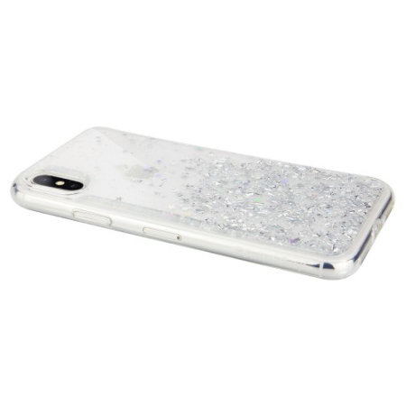 switcheasy starfield iphone xs glitter case - clear