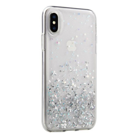 switcheasy starfield iphone xs max glitter case - clear