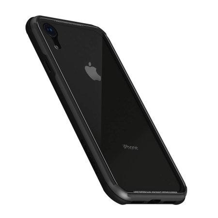 switcheasy iglass iphone xr bumper case - black