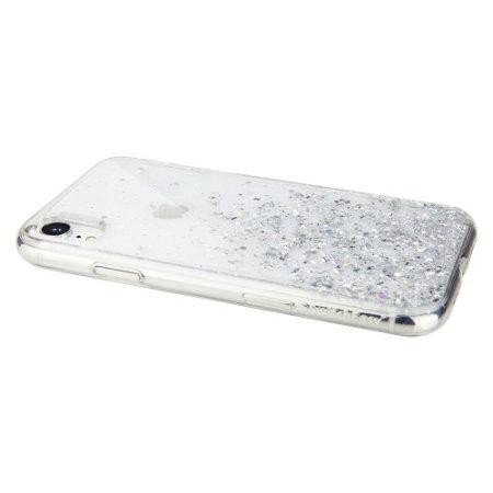 SwitchEasy Starfield iPhone XR Glitter Case - Clear
