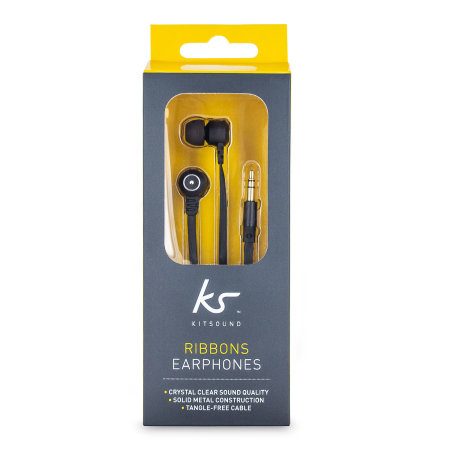 KitSound Ribbons In-Ear Headphones - Black