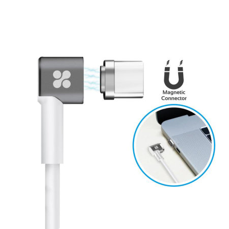 Promate MagLink-C Magnetic USB-C to USB-C Fast Charging Cable - 2M