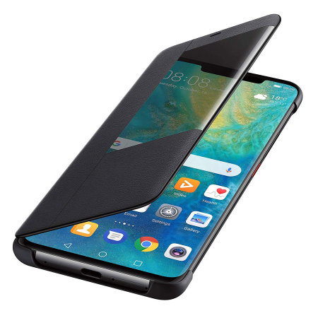 Official Huawei Mate 20 Pro Smart View Flip Case - Black