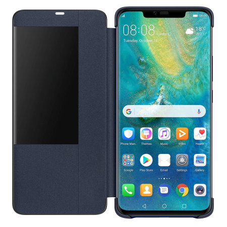 Official Huawei Mate 20 Pro Smart View Flip Case - Deep Blue
