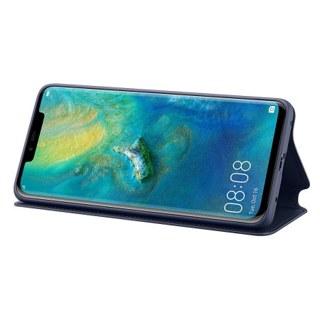 Official Huawei Mate 20 Pro Wallet Cover Case - Blue