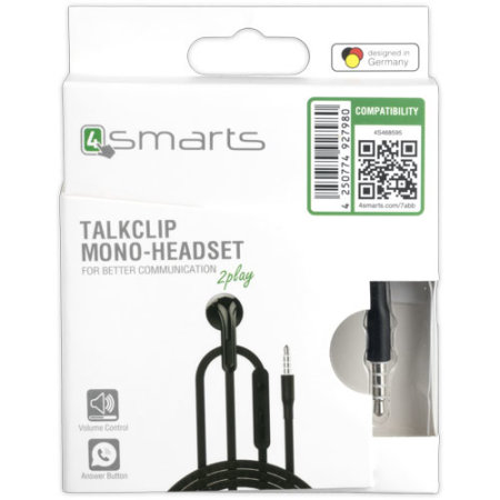 4smarts Mono TalkClip Headset - Black