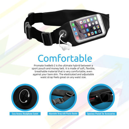 Promate LiveBelt-2 Universal Smartphone Flexible Sports Belt Band Case