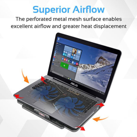 Promate AirBase-1 Laptop Cooling Pad with Silent Fan Technology