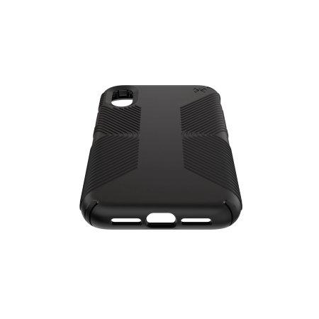speck presido grip iphone xr case - black