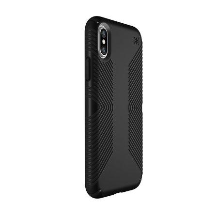 speck presidio grip iphone xs case - black