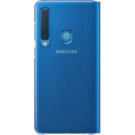 Official Samsung Galaxy A9 2018 Wallet Cover Case - Blue