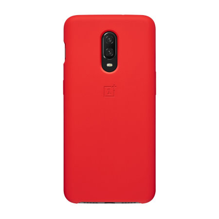 Official OnePlus 6T Silicone Protective Case - Red