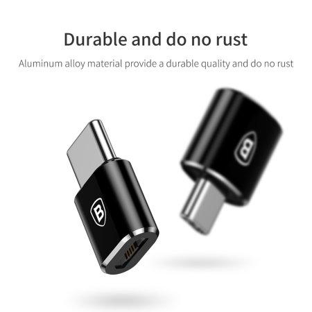 Baseus Micro USB auf USB-C Adapter - Schwarz