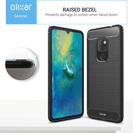 Olixar Sentinel Huawei Mate 20 Hülle und Schutzfolie aus Glas
