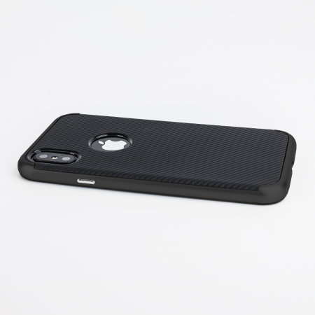 olixar xduo iphone xs case - carbon fibre black