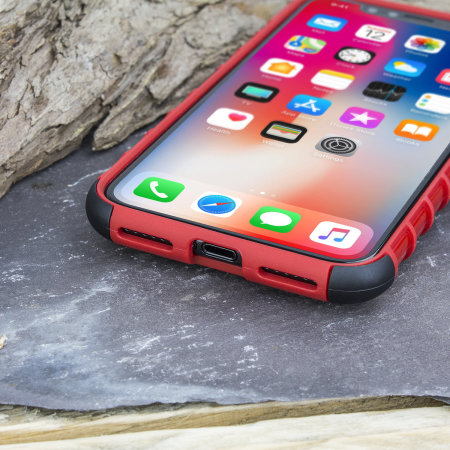 olixar armourdillo iphone xs protective case - red