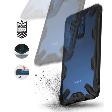 Rearth Ringke Fusion X Huawei Mate 20 Lite Tough Case - Black