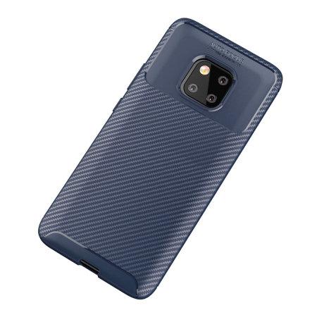 Olixar Huawei Mate 20 Pro Koolstofvezel Case - Blauw