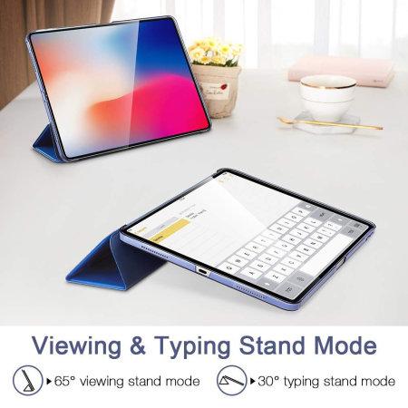 Funda iPad Pro 12.9 2018 ESR con Tapa y Soporte - Azul