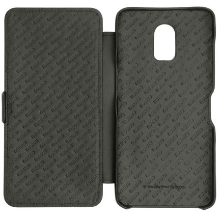 Noreve Tradition D OnePlus 6T Leather Flip Case - Black
