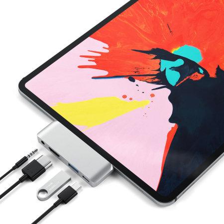 Hub Satechi Mobile Pro Multiport USB-C pour iPad Pro 2018 – Argent