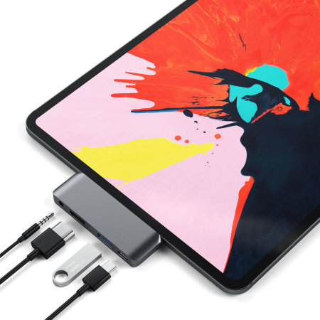 Satechi iPad Pro 2018 USB-C Mobile Pro Multiport Hub - Space Grey