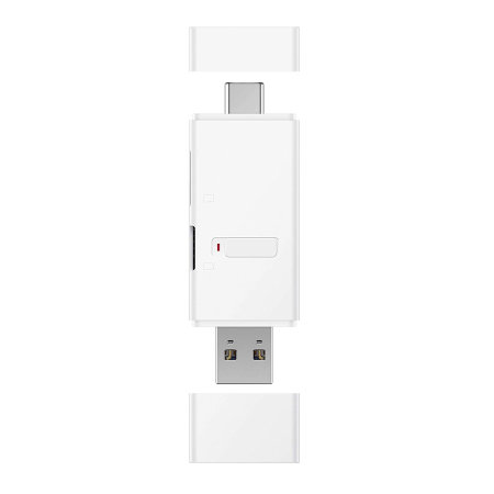 Official Huawei Micro SD / Nano Memory Card Reader With USB C - White
