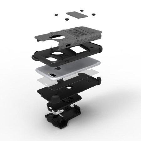 Serie Zizo Bolt per iPhone 8 Plus/ iPhone 7 Plus Cover Gun Metal