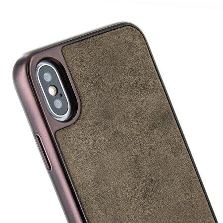 coque iphone xr cuir véritable simple